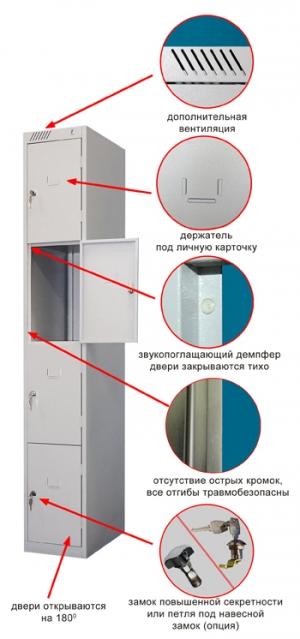 Шкаф металлический для сумок ШРС-14-300 купить на выгодных условиях в Курске